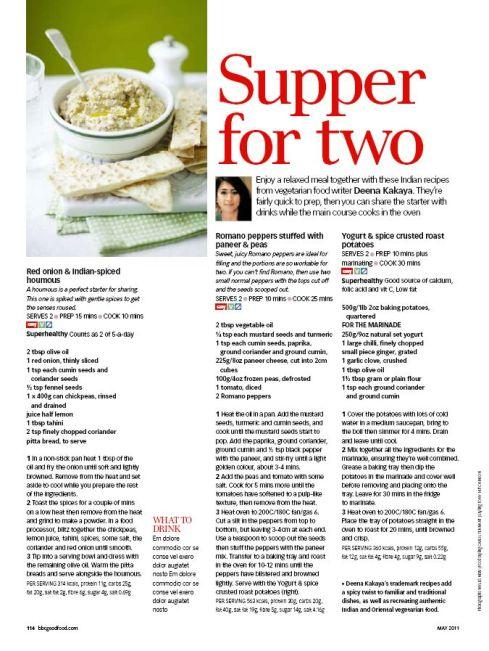 Deena Kakaya Food Writer - BBC GOOD FOOD MAY 2011