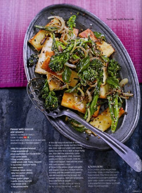 The Modern Vegetarian - Deena Kakaya Featured in the BBC GOOD FOOD Magazine 2011