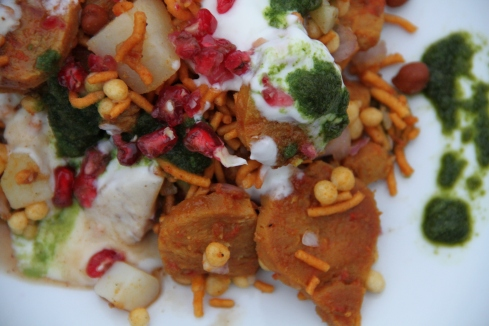 Cheer up; my show stopper soya nugget chaat